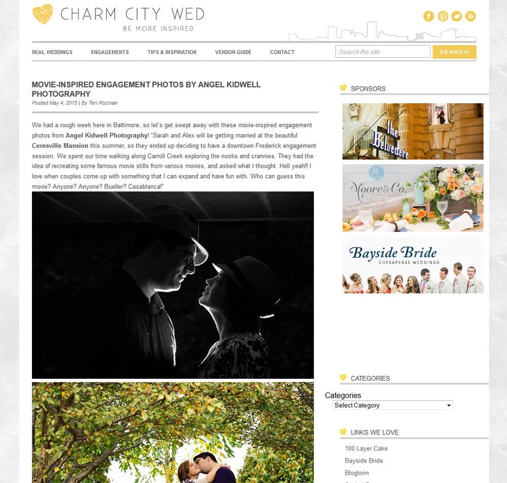 maryland movie inspired engagement photos