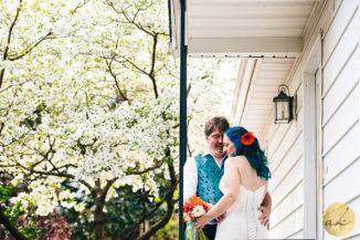 intimate backyard baltimore wedding 1