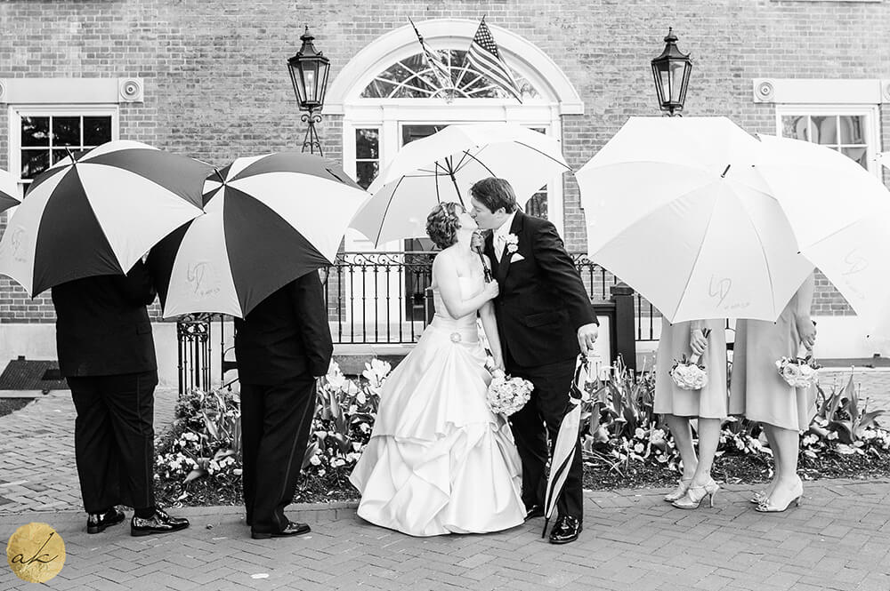 decature house wedding on a rainy day