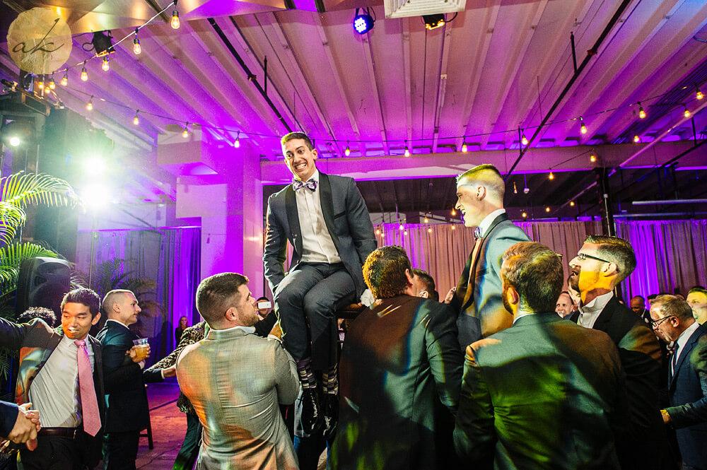 hora dance at dock 5 wedding