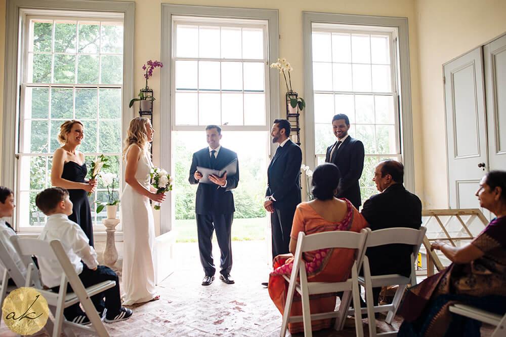 indoor ceremony at Tudor Place Washington DC