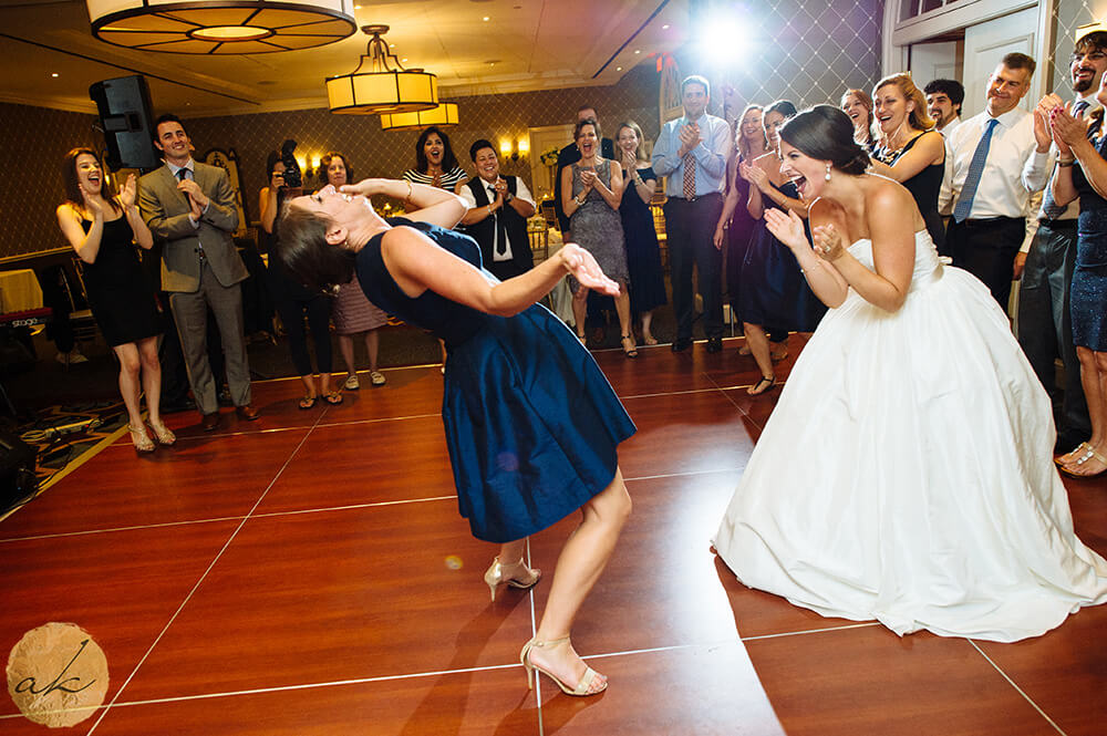 friends dancing at Old Town Alexandria wedding 12