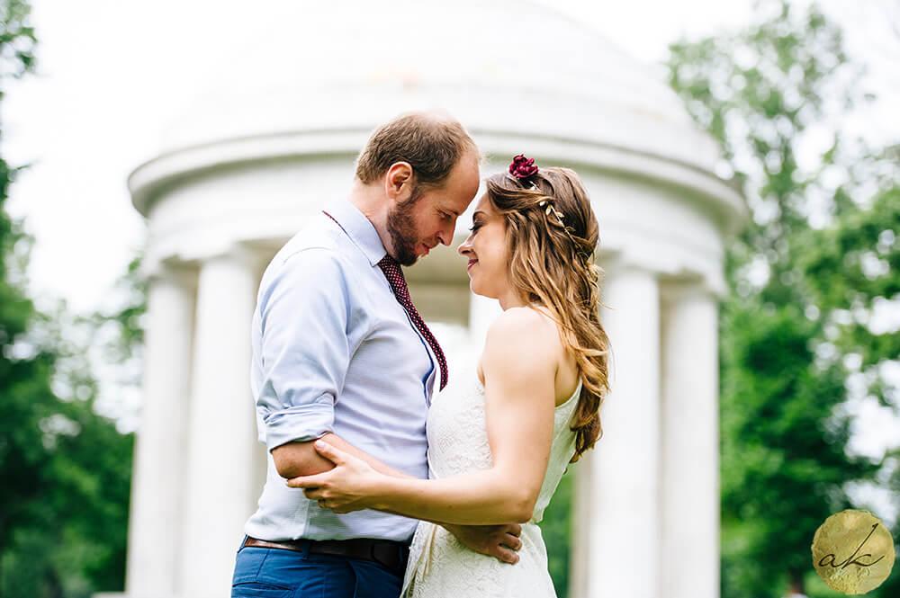 elopement at dc war memorial photo