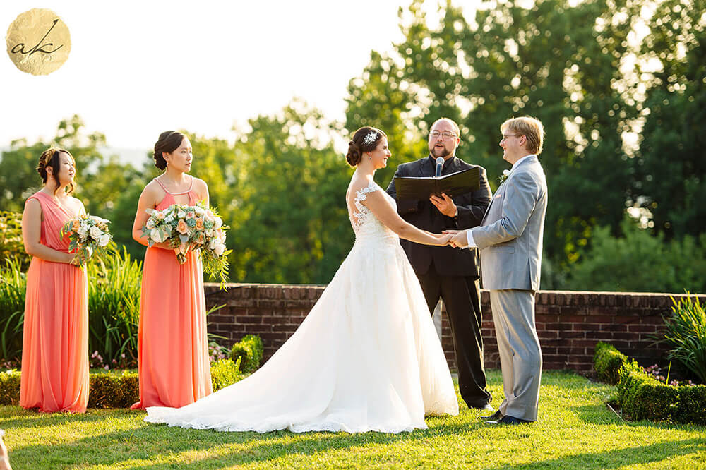 outdoor ceremony Oxon Hill Manor photographer