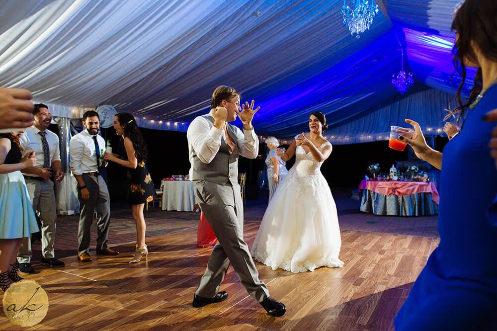 tent reception at Oxon Hill Manor wedding 40