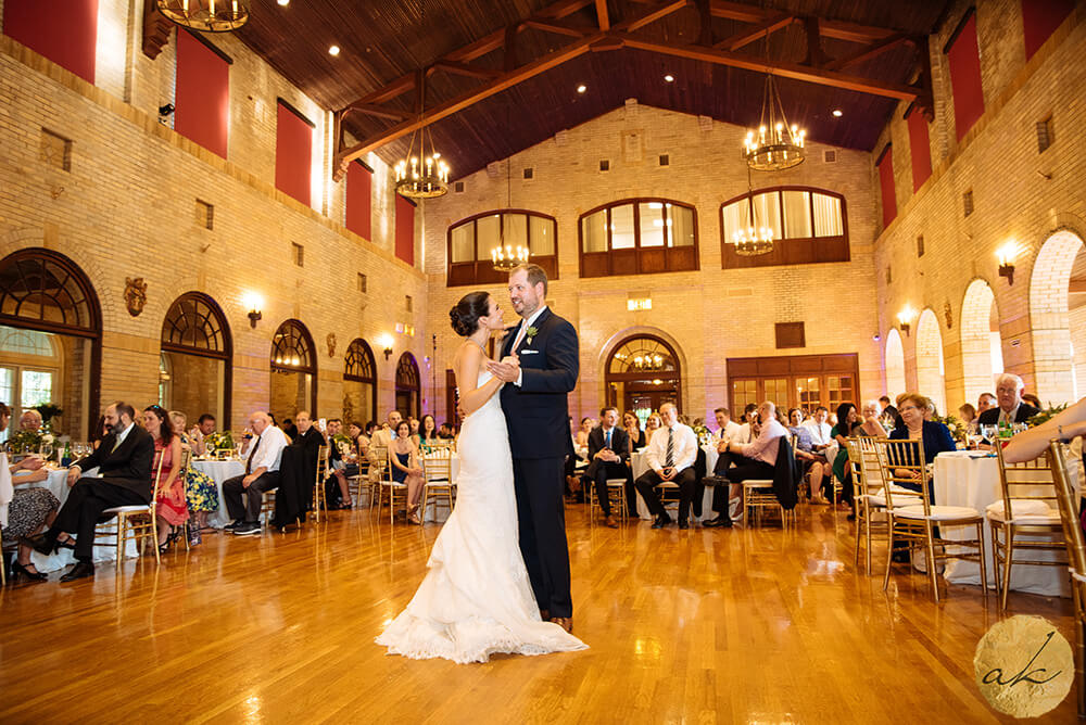 first dance at St. Francis Hall wedding 60